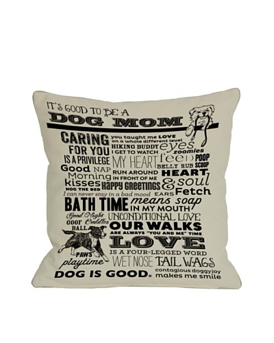 One Bella Casa Dog Mom Pillow, Oatmeal