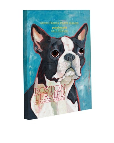 "One Bella Casa ""Boston Terrier 1"" Giclée Canvas Wall Décor"