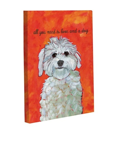 "One Bella Casa ""Love & A Dog"" Giclée Canvas Wall Décor"