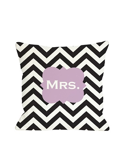 One Bella Casa Mrs. Chevron Pillow
