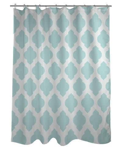 One Bella Casa All Over Moroccan Shower Curtain, Fair AquaAs You See