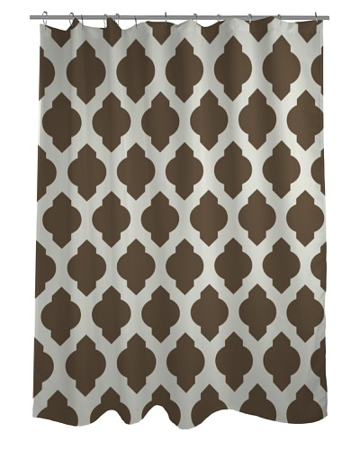 One Bella Casa All Over Moroccan Shower Curtain, Coffee
