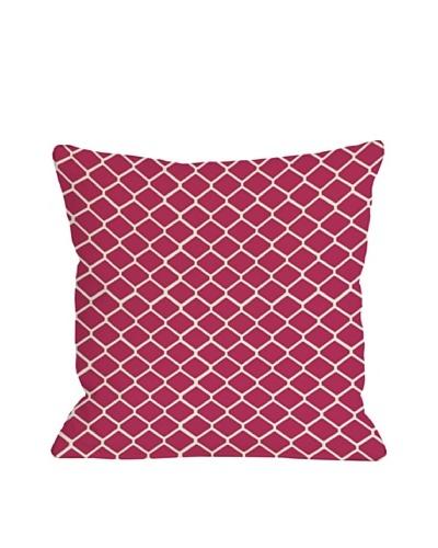 One Bella Casa Fence 18x18 Outdoor Throw Pillow [Raspberry]
