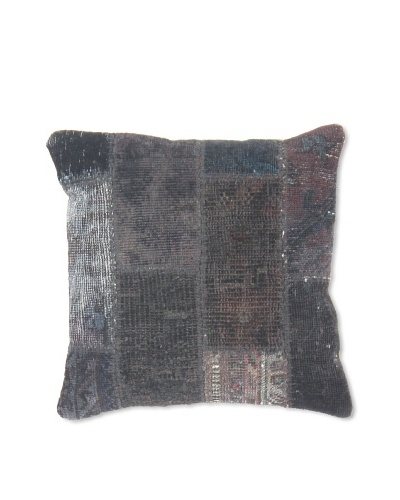 Momeni One of a Kind 14 x 14 Afghan Pillow, Blue/Silver