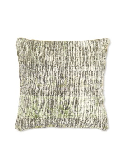 Momeni One of a Kind 14 x 14 Afghan Pillow, Grey/Silver