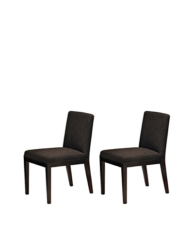 Onyx Set of 2 Dover Chairs, Espresso
