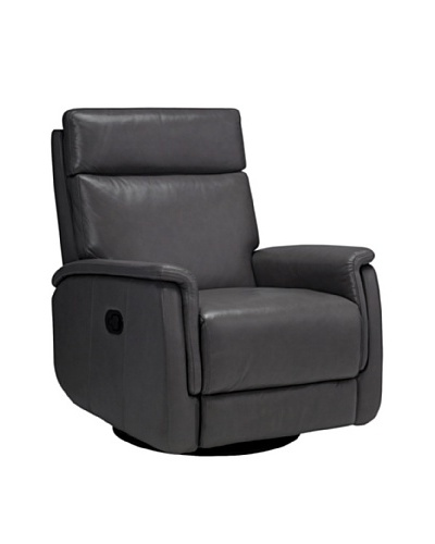 Onyx San Antonio Top Grain Leather Armchair, Grey