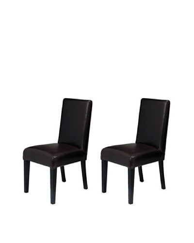 Onyx Set of 2 Prescott Chairs, Fudge