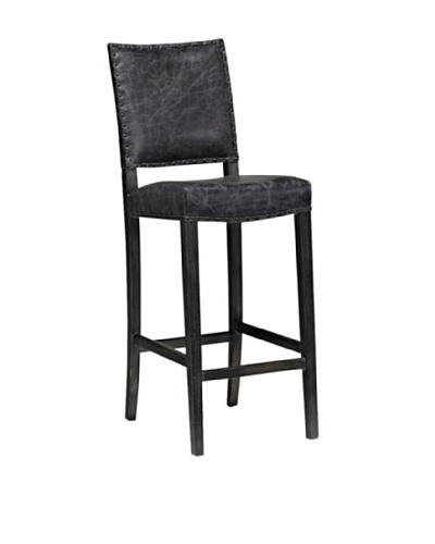Onyx Aspen Top Grain Leather Barstool, Graphite