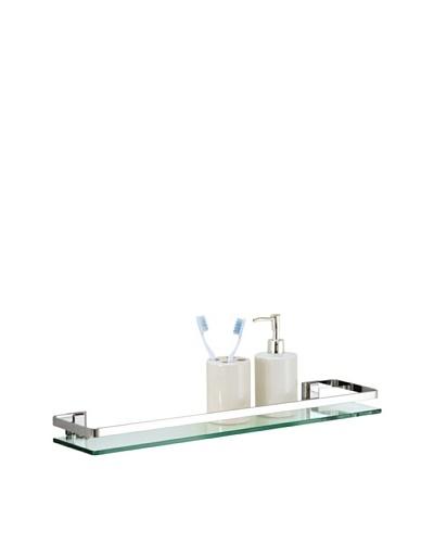Organize It All Glass Shelf with Rail, Chrome