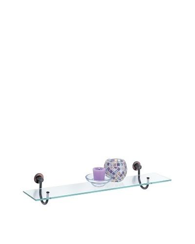 Organize It All Bath Glass Shelf, Oil Rubbed