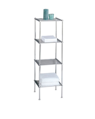 Organize It All Metro 4-Tier Shelf, Chrome