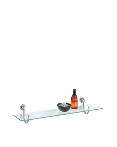 Organize It All Glass Shelf with Satin Nickel Mounts