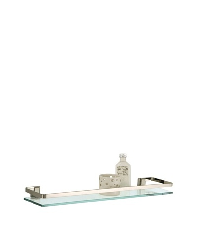 Organize It All Glass Shelf with Rail, Nickel