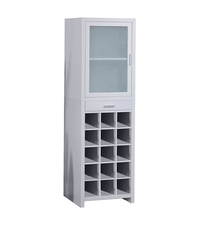Organize It All Wine Cabinet, White