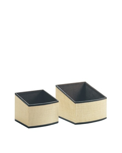 Organize It All Set of 2 Jute Slant Baskets