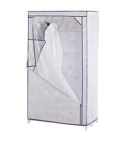 Organize It All White Storage Wardrobe