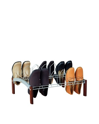 Organize It All 9-Pair Shoe Rack