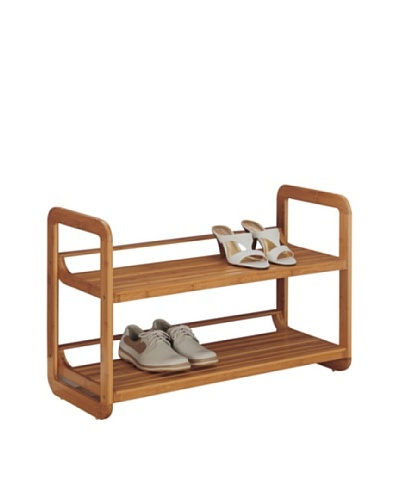 Organize It All 2-Tier Stackable Shoe Rack