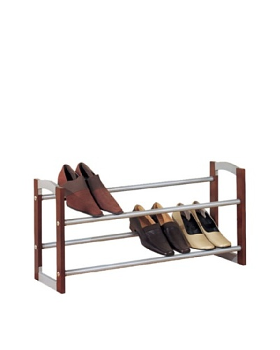 Organize It All 2-Tier Expandable Shoe Rack