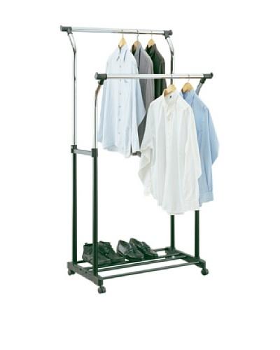 Organize It All Double Adjustable Garment Rack