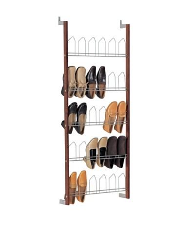 Organize It All 15 Pair Overdoor Shoe Rack