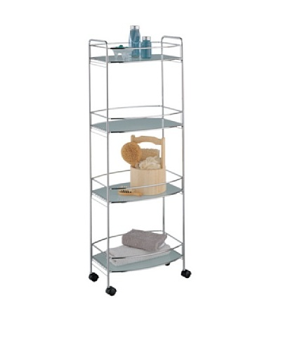 Organize It All 4-Tier Oval Shelf Cart