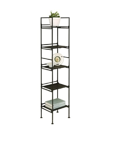 Organize It All Ebonize 5-Tier Square Shelf