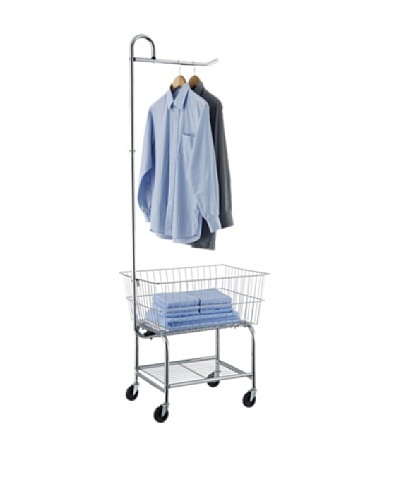 Organize It All Laundry Center with Hanging Bar