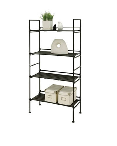 Organize It All Ebonize 4-Tier Shelf