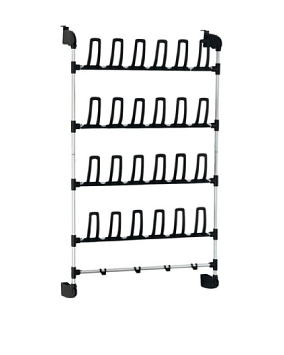 Organize It All Basic Overdoor Shoe Rack with Hook, 12-Pair