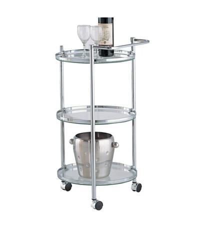 Organize It All Circular Serving Cart