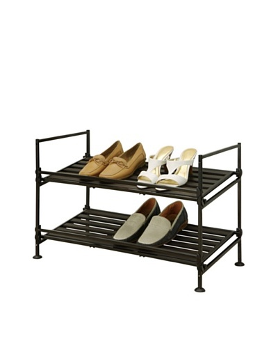 Organize It All Ebonize 2-Tier Shoe Rack