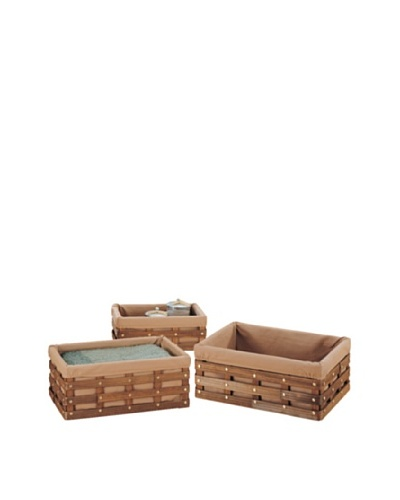 Organize It All Set of 3 Havana Rectangular Baskets