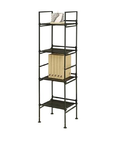 Organize It All Ebonize 4-Tier Square Shelf