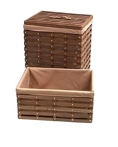 Organize It All Havana Hamper with Laundry Basket