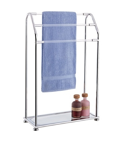 Organize It All 3-Bar Towel Rack with Bottom Shelf