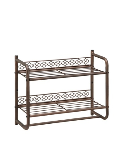 Organize It All Morocco Wall Mounting 2-Tier Shelf with Towel Bar
