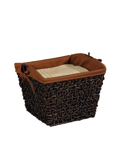 Organize It All Twist Storage Basket, Cocoa
