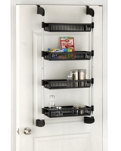 Organize It All Over The Door 4-Basket Unit With Hooks