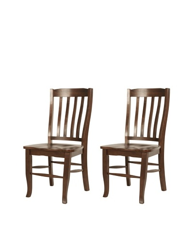 Orient Express Set of 2 Charlotte Dining Chairs, Espresso