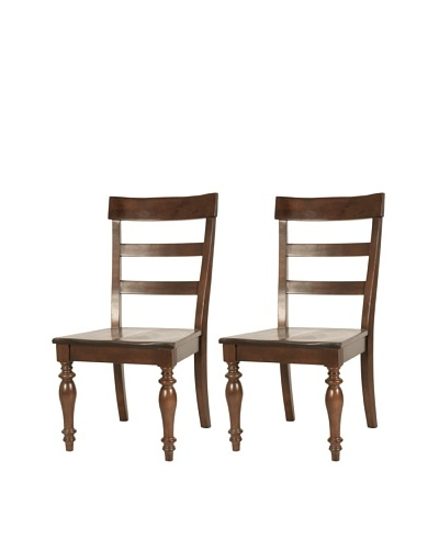 Orient Express Set of 2 Buster Dining Chairs, Espresso