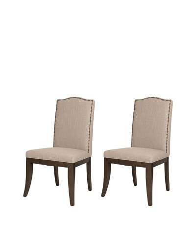 Orient Express Set of 2 August Side Chairs, Almond