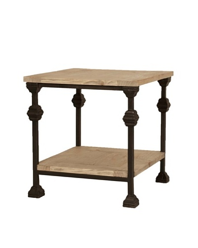 Orient Express Alpine End Table, Rustic Pine