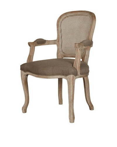 Orient Express Gwendolyn Cane Back Arm Chair, Oak