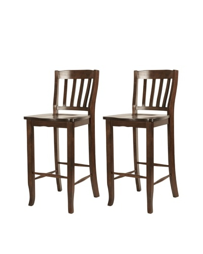 Orient Express Set of 2 Charlotte 30 Barstools, Espresso