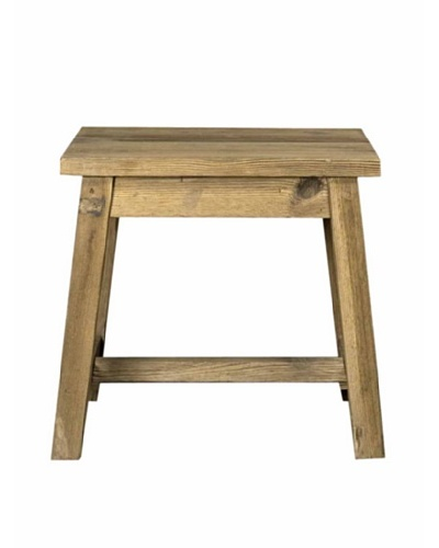 Orient Express Boulder End Table, Reclaimed Pine