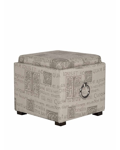 Orient Express Script Storage Ottoman , Notes