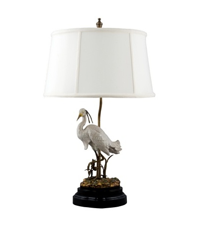 Oriental Danny Egret Table Lamp