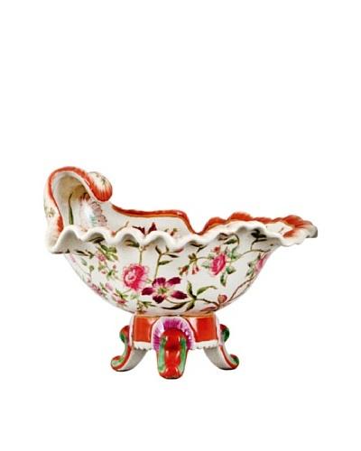 Oriental Danny Raintree Leaf Porcelain Shell Salt Celler